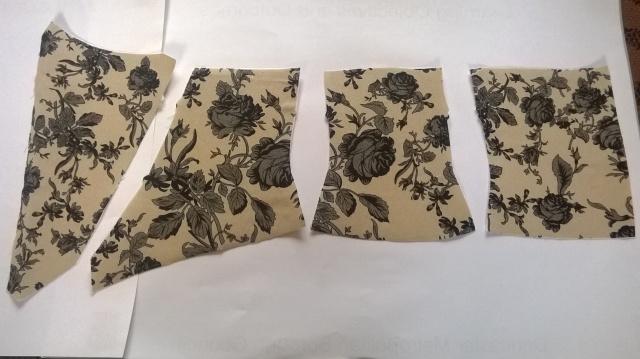 Pieces of corset prepared